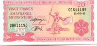 20 Francs 1995 Burundi,  Unc  150 руб 2,00 EUR  +  523 руб shipping