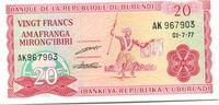 20 Francs 1977 Burundi,  Unc  299 руб 4,00 EUR  +  523 руб shipping