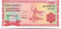 20 Francs 1979 Burundi,  Unc  299 руб 4,00 EUR  +  523 руб shipping
