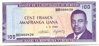 100 Francs 1981 Burundi,  Unc  449 руб 6,00 EUR  +  523 руб shipping