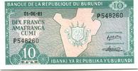 10 Francs 1981 Burundi,  Unc  150 руб 2,00 EUR  +  523 руб shipping