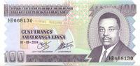 100 Francs 2004 Burundi,  Unc  150 руб 2,00 EUR  +  523 руб shipping