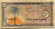 5 Schillings (1967) Biafra,  IV  224 руб 3,00 EUR  +  523 руб shipping
