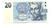 20 Kronen/Korun 1994 Tschechoslowakei,  Unc  598 руб 8,00 EUR  +  523 руб shipping