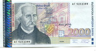 2000 Lewa 1996 Bulgarien,  Unc  1196 руб 16,00 EUR  +  523 руб shipping