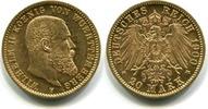20 Mark 1900F Württemberg, Wilhelm II.1891-1918, vz/st  29536 руб 395,00 EUR  +  523 руб shipping