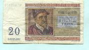20 Francs 1956 Belgien,  III  4,00 EUR  zzgl. 5,00 EUR Versand