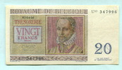 20 Francs 1956 Belgien,  II  7,00 EUR  zzgl. 5,00 EUR Versand