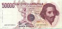 50000 Lire 1984 Italien,  II,  2811 руб 38,00 EUR  +  518 руб shipping