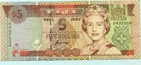 5 Dollars, (1995) Fiji,  III  592 руб 8,00 EUR  +  518 руб shipping