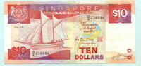10 Dollars (1988) Singapur,  II  962 руб 13,00 EUR  +  518 руб shipping