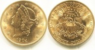20 Dollars Gold Liberty Double Eagle 1904 USA,  vz+  101284 руб 1395,00 EUR  +  2759 руб shipping