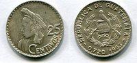 25 Centavos 1963 Guatemala ~ ss/vz  763 руб 12,00 EUR  +  445 руб shipping