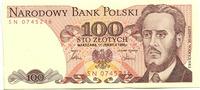 100 Zlotych 1.6.1986 Polen,  Unc  2,00 EUR  zzgl. 5,00 EUR Versand