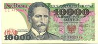 10000 Zlotych 1.12.1988 Polen,  Unc  7,00 EUR  zzgl. 5,00 EUR Versand