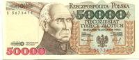 50000 Zlotych 1.11.1988 Polen,  Unc  7,00 EUR  zzgl. 5,00 EUR Versand