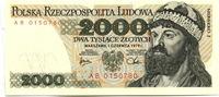 2000 Zlotych 1.06.1979 Polen,  Unc  12,00 EUR  zzgl. 5,00 EUR Versand