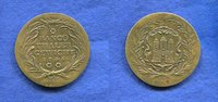 Hamburg, 1 Bancothaler, 1744, vz, Messing-...
