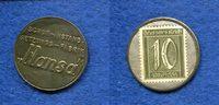 10 Pfennig Briefmarken-Kapselgeld, o.J., Deutschland/Frankfurt/M., Schu... 60,00 EUR