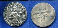 Ag.Medaille, o.J., Frankfurt, Stadtsiegel 1342, ss,vz,  65,00 EUR  +  7,00 EUR shipping