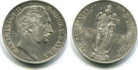 Zwei Gulden(Mariengulden), 1855, Bayern, Maximilian II 1848-1864, vz+,  129,00 EUR  +  7,00 EUR shipping