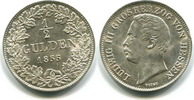 1/2 Gulden 1855 Hessen-Darmstadt, Ludwig III.1848-1877, vz/st kl.Rfl.  495,00 EUR  zzgl. 5,00 EUR Versand