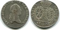 2/3 Taler 1780IEC Sachsen, Friedrich August III.1763-1806, ss+  135,00 EUR  zzgl. 5,00 EUR Versand