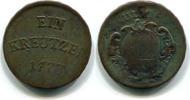 1 Kreuzer 1773 Ulm,Stadt,  f.ss  39,00 EUR  zzgl. 5,00 EUR Versand
