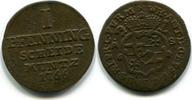 1 Pfennig 1766 Paderborn-Bistum, Wilhelm Anton v.Asseburg 1763-1782, ss  55,00 EUR  zzgl. 5,00 EUR Versand