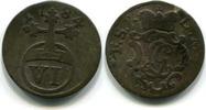 6 Pfennig 1784 Schwarzburg-Rudolstadt, Ludwig Günther II.1767-1790, ss  45,00 EUR  zzgl. 5,00 EUR Versand