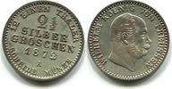 2 1/2 Silbergroschen 1872A Preussen, Wilhelm I.1861-1888, vz/st  35,00 EUR  zzgl. 5,00 EUR Versand