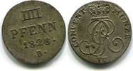 4 Pfennig 1828B Hannover, Georg IV.1820-1830, ss  32,00 EUR  zzgl. 5,00 EUR Versand