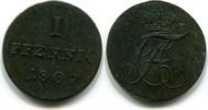 1 Pfennig 1807 Anhalt-Bernburg, Alexius Friedrich Christian 1706-1834, ss  69,00 EUR  zzgl. 5,00 EUR Versand