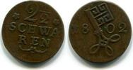 2 1/2 Schwaren 1802 Bremen,  ss  18,00 EUR  zzgl. 5,00 EUR Versand