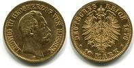 10 Mark 1876H Hessen, Ludwig III.1848-1877, f.ss  333,00 EUR  +  7,00 EUR shipping