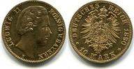 10 Mark 1880D Bayern, Ludwig II.1864-1886, ss+  19816 руб 265,00 EUR  +  523 руб shipping