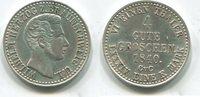 4 Gute Groschen 1840 Braunschweig, Wilhelm 1831-1854, vz+  140,00 EUR  zzgl. 5,00 EUR Versand
