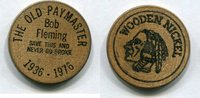 Wooden Nickel 1976 USA - Bob Fleming -   8,00 EUR  zzgl. 5,00 EUR Versand