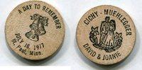 Wooden Nickel 1977 USA - St. Paul, Minn. -   4,00 EUR  zzgl. 5,00 EUR Versand