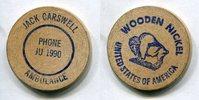 Wooden Nickel  USA - Ambulance Jack Carswell -   3,00 EUR  zzgl. 5,00 EUR Versand