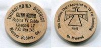 Wooden Nickel  USA - Warner Robins, Ga. -   3,00 EUR  zzgl. 5,00 EUR Versand