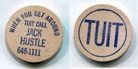 Wooden Nickel  USA - Jack Hustle -   3,00 EUR  zzgl. 5,00 EUR Versand