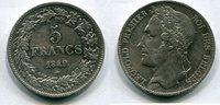 5 Francs 1849 Belgien  / ss  80,00 EUR  +  7,00 EUR shipping