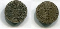 2 Skilling 1668 Dänemark ~ Frederik III 1648-1670 ~ / ss  55,00 EUR  +  7,00 EUR shipping