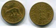 5 Kroner 1944 Grönland ~ Greenland ~ ss+ zaponiert  5722 руб 90,00 EUR  +  445 руб shipping