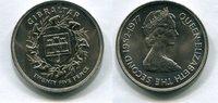 25 Pence 1977 Gibraltar ~ unc  318 руб 5,00 EUR  +  445 руб shipping
