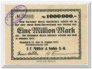 1 Mio. Mark 1923 Deutschland ~ Hamburg - J. F. Müller & Sohn AG ~ ~ II+  130,00 EUR117,00 EUR  +  7,00 EUR shipping