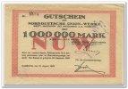 1 Mio. Mark 1923 Deutschland ~ Hamburg - Norddeutsche Union Werke AG ~ ... 130,00 EUR117,00 EUR  +  7,00 EUR shipping