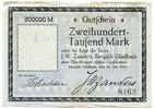 200.000 Mark, 1923, Deutschland, ~ Bergisch Gladbach / Firma J.W.Zander... 95,00 EUR85,50 EUR  +  7,00 EUR shipping