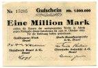 1 Million Mark 1923 Deutschland ~ Beuel-Guilleaume Werk,Akalit Kunsthor... 95,00 EUR85,50 EUR